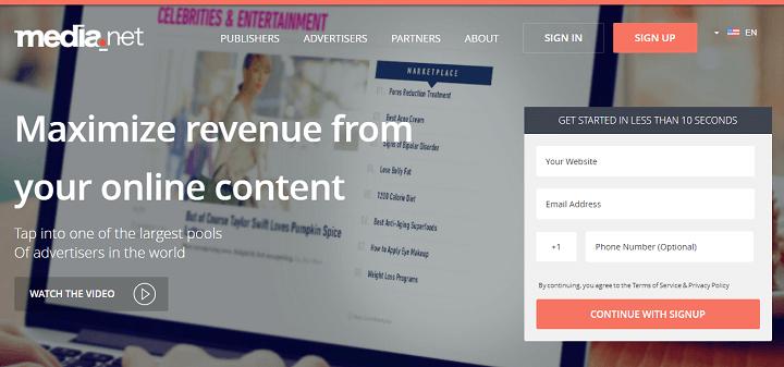 Media.net mạng quảng cáo thay thế Google Adsense