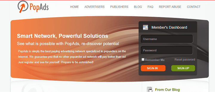 PopAds mạng quảng cáo thay thế Google Adsense