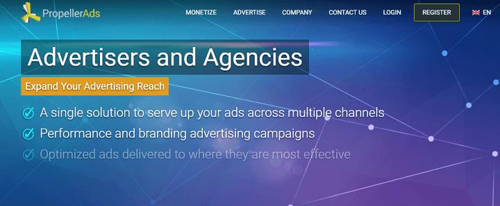 Propeller Ads Mạng quảng cáo thay thế Google Adsense