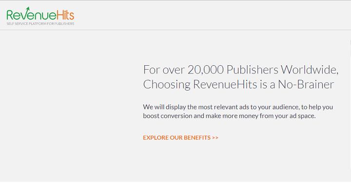 Revenuehits Mạng quảng cáo thay thế Google Adsense