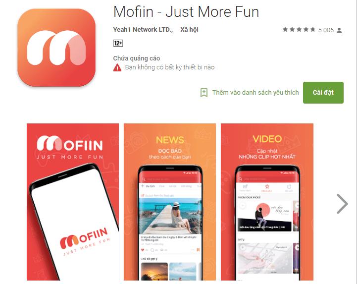 Kiếm tiền online với Mofiin